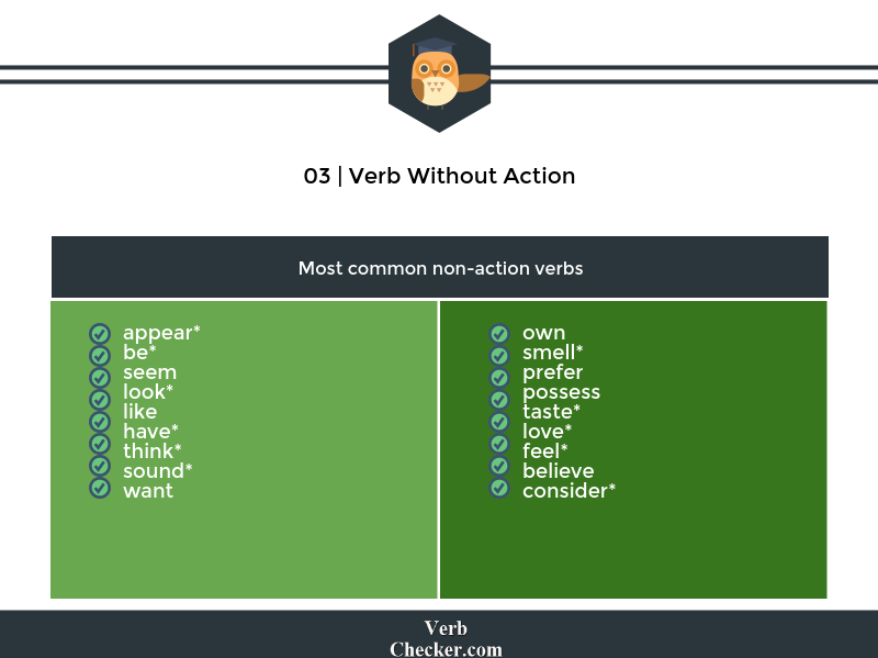 verb without action example