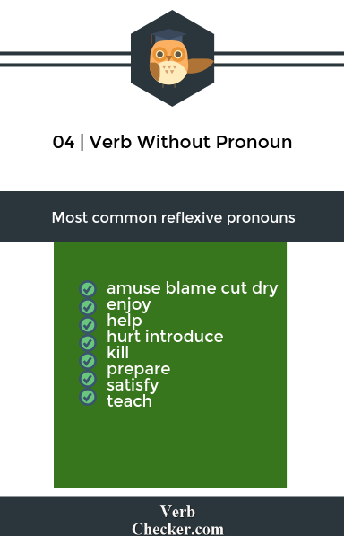 verb without pronoun example