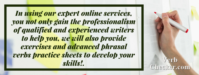 phrasal verbs examples professional service help